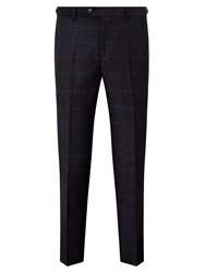 John Lewis And Co. Mini Overcheck Tailored Suit Trousers Navy