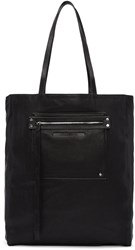 Mcq By Alexander Mcqueen Black Leather Tote