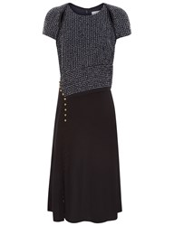 3.1 Phillip Lim Multi Cut Out Cap Sleeve Shift Dress Navy
