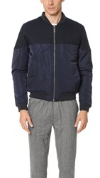 Native Youth Mist Bomber Jacket Navy