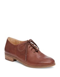 Lucky Brand Castener Leather Oxfords Chipmunk Brown