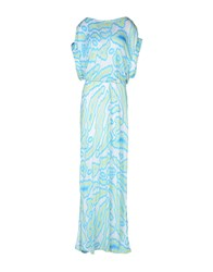 Matthew Williamson Escape Dresses Long Dresses Women Turquoise