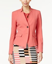 Nine West Taylor Stretch Two Button Jacket Coral