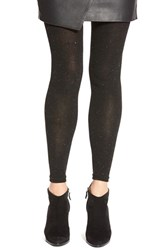 Women's Via Spiga 'Stardust' Knit Footless Tights Black