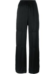 T By Alexander Wang Drawstring Loose Fit Trousers Black