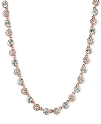 Givenchy Rose Gold Tone Crystal Collar Necklace