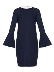 Mother Of Pearl Clyde Bi Colour Wool Pique Dress