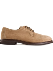 Brunello Cucinelli Lace Up Derby Shoes Brown