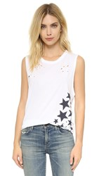 Sundry Side Stars Muscle Tee White