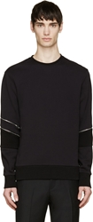 Tim Coppens Black Zip Trimmed Sweater