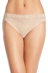 Women's Natori 'Bliss Perfection' Thong Beige 3 For 45 Cafe