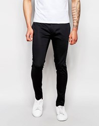 Asos Super Skinny Trouser In Cotton Sateen Black