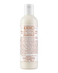 Grapefruit Deluxe Hand And Body Lotion With Aloe Vera And Oatmeal 8.4 Fl. Oz. Kiehl's Since 1851