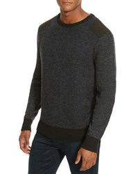 Kenneth Cole Marled Crewneck Sweater Indigo