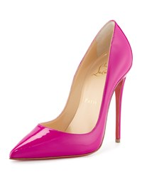 Christian Louboutin So Kate Patent Red Sole Pump Indian Rose Women's Size 40.0B 10.0B