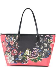 Etro Floral Print Shoulder Bag Black
