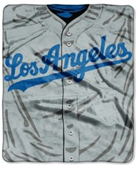 Northwest Company Los Angeles Dodgers Raschel Strike Blanket Royalblue