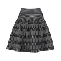 Alaia Skirt Black White