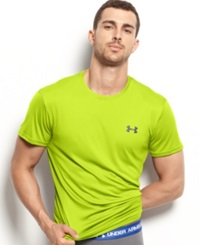 Under Armour Men's Athletic Flyweight Performance Short Sleeve Crew Neck T Shirt High Visibility Yellow