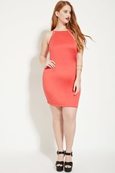 Forever 21 Plus Size Scuba Knit Dress Coral