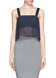3.1 Phillip Lim Eyelet Lace Tank Top With Bandeau Blue