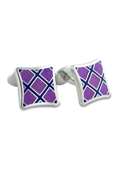 David Donahue Sterling Silver Cuff Links Purple