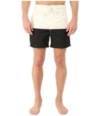 Nautica Pieced Color Block Trunk Sail Cream Men's Swimwear White