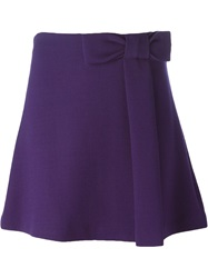 P.A.R.O.S.H. Bow Detail Mini Skirt Pink And Purple
