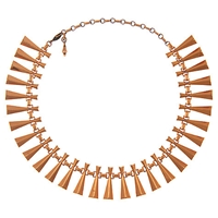 Eclectica Vintage 1950S Renior Copper Necklace Brown