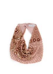 Mignonne Gavigan New York 'Le Charlot Pearl' Beaded Silk Chiffon Scarf Necklace Pink