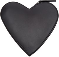 Christopher Kane Black Leather Heart Shaped Clutch