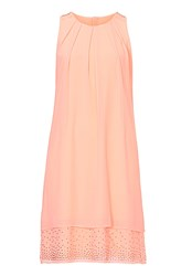 Vera Mont Layered Dress With Diamante Trim Orange