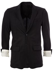 Undercover Folded Sleeve Detail Blazer Black