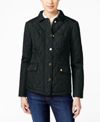 Charter Club Quilted Water Resistant Jacket Only At Macy's Deep Black
