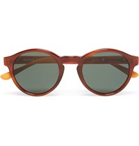 Orlebar Brown Round Frame Acetate Sunglasses Brown