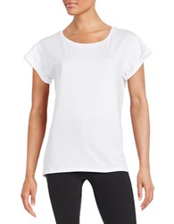 Lord And Taylor Plus Cotton Tee White