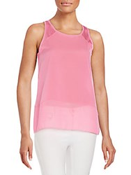French Connection Polly Plains Raw Edge Tank Top Spring Break