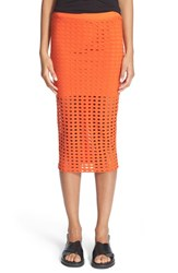 Women's T By Alexander Wang Circle Cutout Jersey Midi Skirt Pop