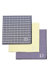 Cathy's Concepts Personalized Handkerchiefs Yellow Set Of 3