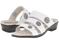 Propet Annika Slide White Patent Women's Dress Sandals