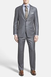 Hickey Freeman 'Beacon B Series' Classic Fit Check Wool Suit Black
