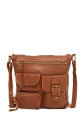 T Shirt And Jeans Washed Crossbody Brown