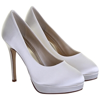 Rainbow Club Eliza Platform Stiletto Court Shoes Ivory