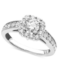 Macy's Engagement Ring Round Cut Diamonds 1 1 4 Ct. T.W. And 14K White Gold