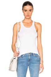 Enza Costa Sheath Tank Top In White