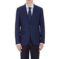 Barneys New York Men's Checked Two Button Sportcoat Blue