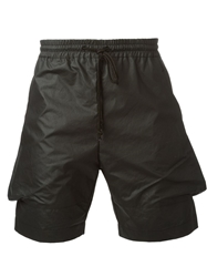 Lost And Found Coated Tapered Shorts Black