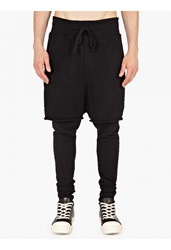 Thom Krom Black Layered Jersey Sweatpants