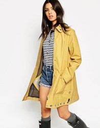 Hunter Festival Waterproof Rubber Runway Trench With Eyelet Detail Yellow