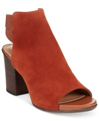 Kenneth Cole Reaction Frida Fly Dress Sandals Women's Shoes Rust Suede